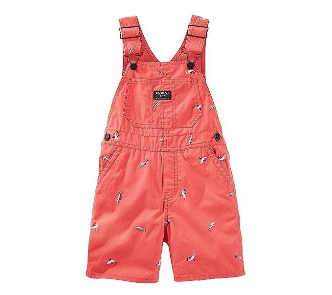 e344b3b10 OshKosh B'Gosh Pantalón de peto - para bebé niño rojo 86 cm: Amazon ...