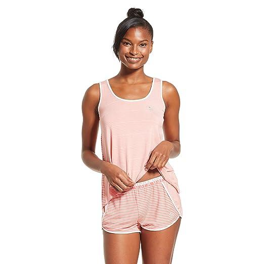 157fa3d4 U.S. Polo Assn. Womens Athletic Short Sleeve Shirt and Pajama Shorts ...