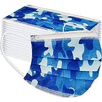 50 Piezas de CordóN de Oreja Colgante Suave con Estampado dDe Camuflaje Azul Transpirable Protector Desechable para…