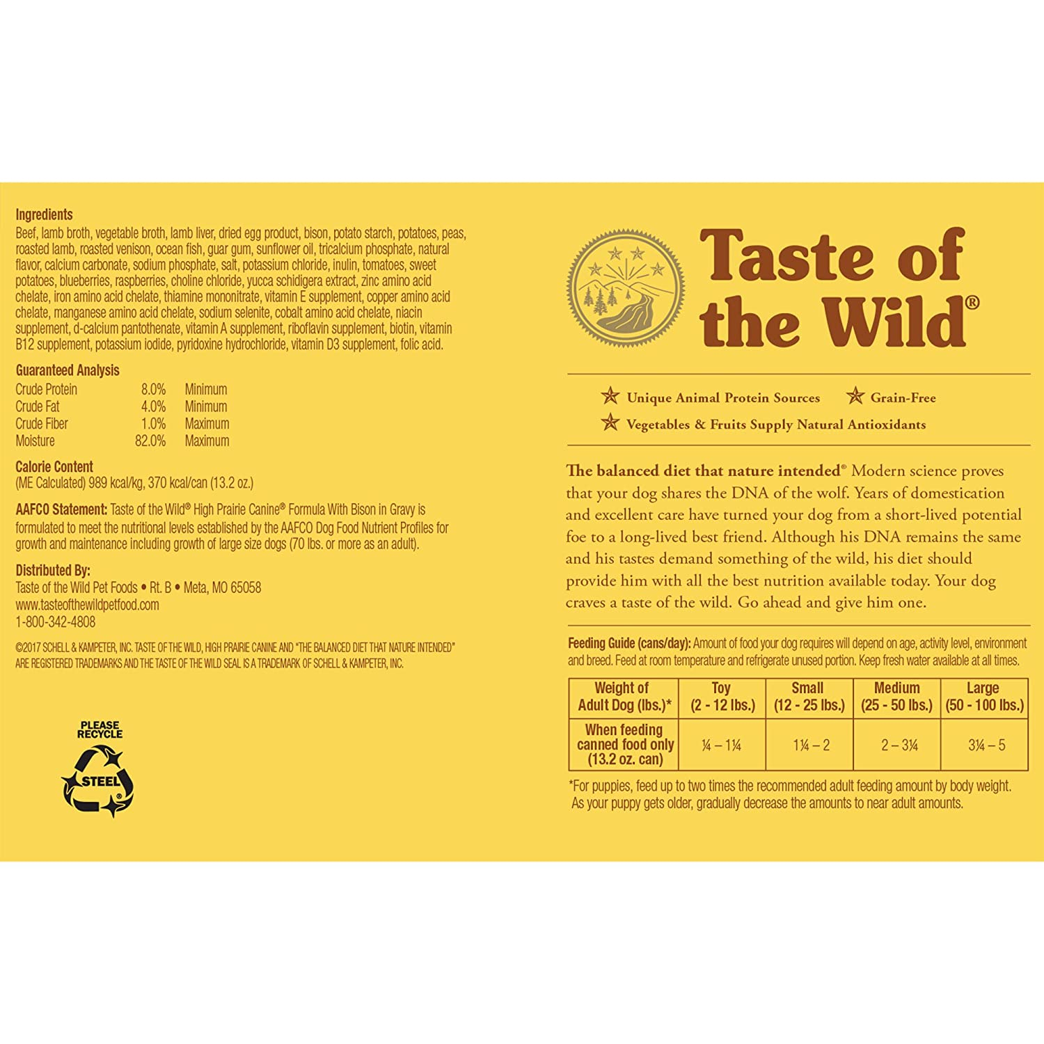 Taste of the wild grain free real meat recipe premium wet canned