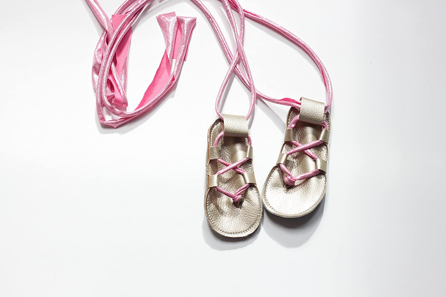 Amazon.com: baby gladiator sandals, baby Jesus shoes, toddler lace sandals: Handmade