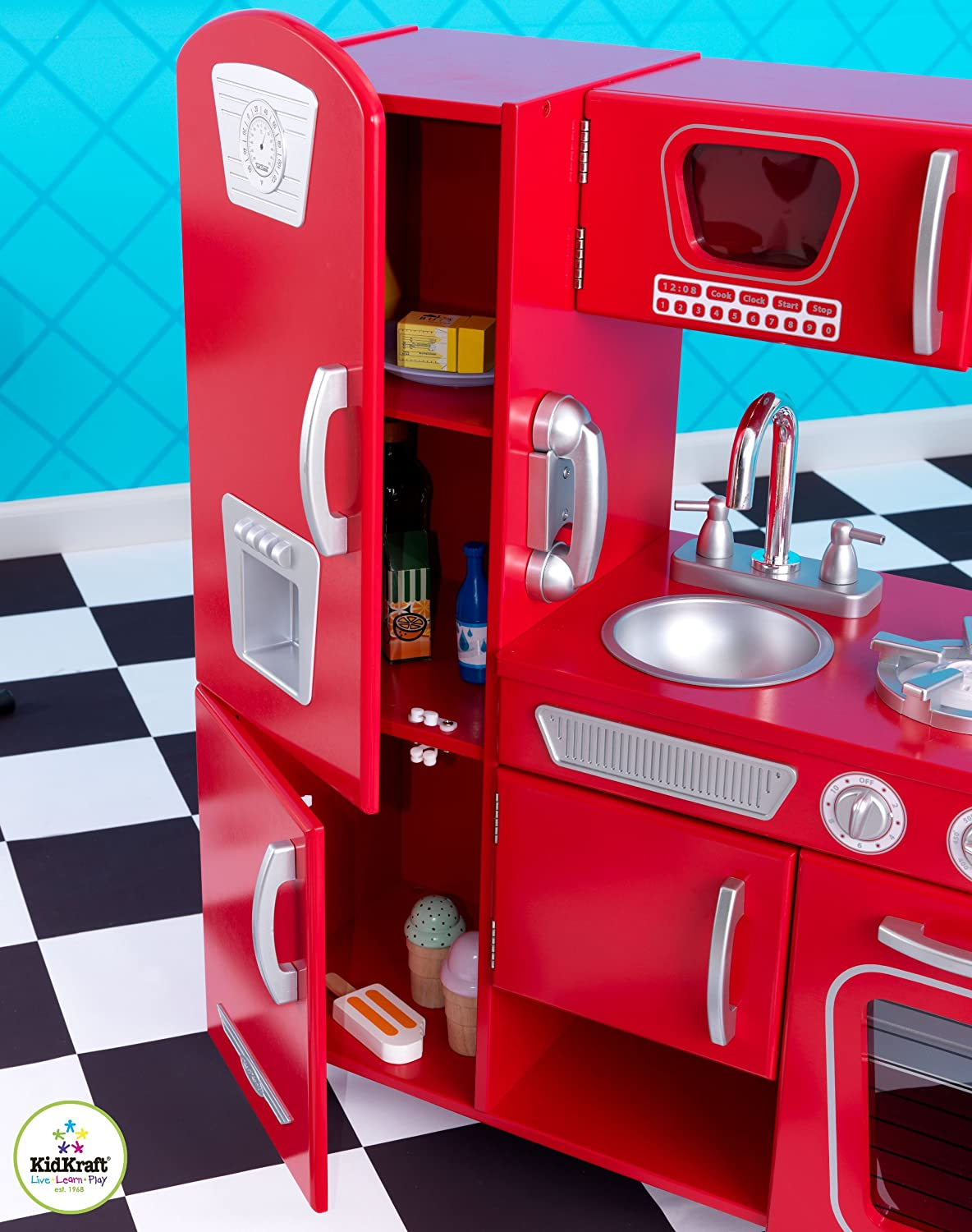 Amazon.com: Red Retro Kitchen: Toys & Games