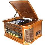 Tocadiscos Bluetooth Plato Giradiscos Vinilo,CD,Cassette,Encoding ...