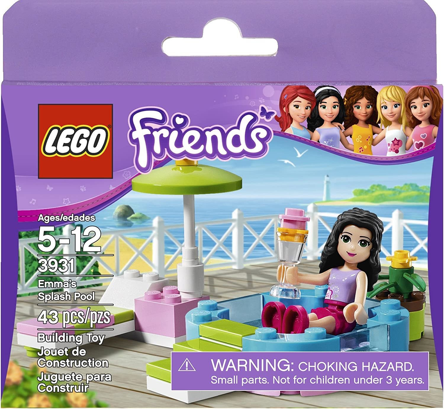 Lego Friends Magazine issue 36 Emma's pool party
