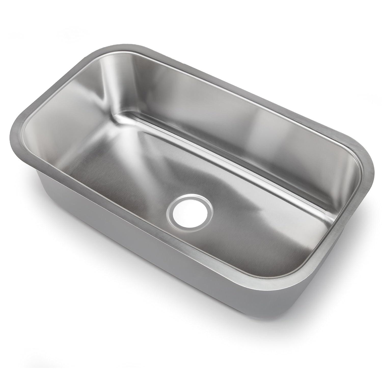 B hahn kitchen sinks Hahn Chef Series SS 31 5 Inch Undermount Single Bowl X Large Amazon com