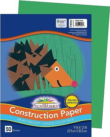 9 x 12 Tru-Ray Heavyweight Construction Paper 50 Sheets Holiday Green