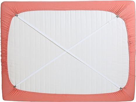 Mattress Bed Sheet Crisscross Straps Clips Grippers Fasteners Holders Suspender