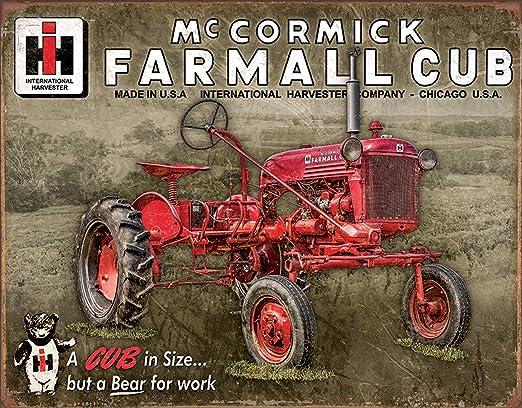 Case Tractors Farm vintage style Porcelain Sign