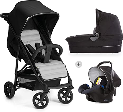 Opinión sobre Hauck Rapid 4 Plus Trio Set - Carrito de bebe 3 in 1, de 0 meses a 25 kg, adaptable a Isofix, capazo, respaldo reclinable, manillar ajustable en altura, plegado con una mano, grupo 0+, negro gris