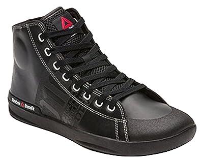 46f2e53bf971 Reebok Men s Crossfit Trainers Leather Sneakers Black V59968 (6 UK EU 39 US  ...