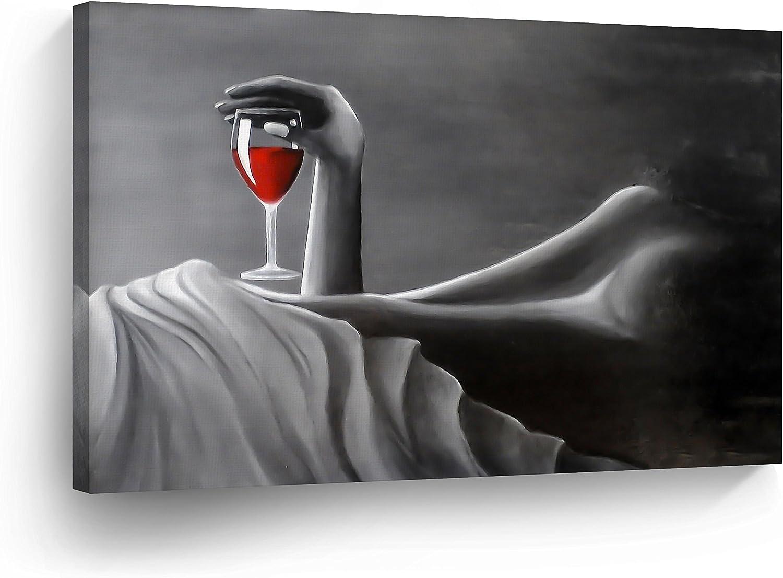 Oil Painting HD Print Wall Decor Art on Canvas Erotic girl in the rain 12x16