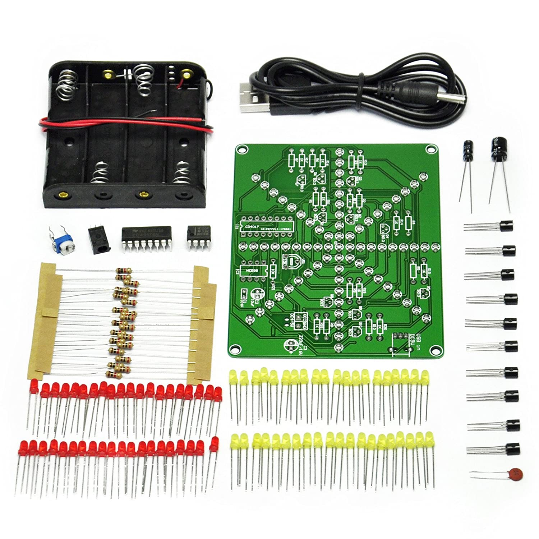 Gikfun Electronic Led Falshing Lights Soldering Practice Board Pcb Electronics Using Ic Ne555cd4017 Projects Circuits Diy Kit Ek1874 Computers Accessories