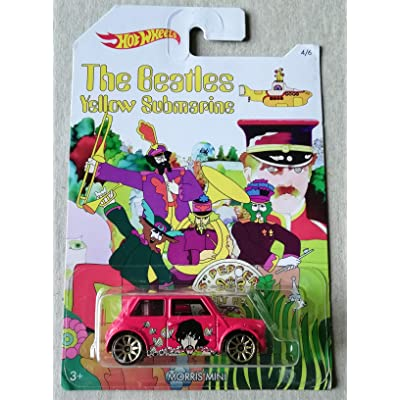 Hot Wheels 2016 The Beatles 50th Anniversary Yellow Submarine Morris Mini 4/6, Red: Toys & Games
