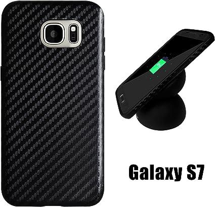 Galaxy S7 Coque en fibre de carbone, Newisdom Dock® spécial conçu [fin à Perfect assorti avec S7 chargeur sans fil] Etui en carbone pour Samsung ...