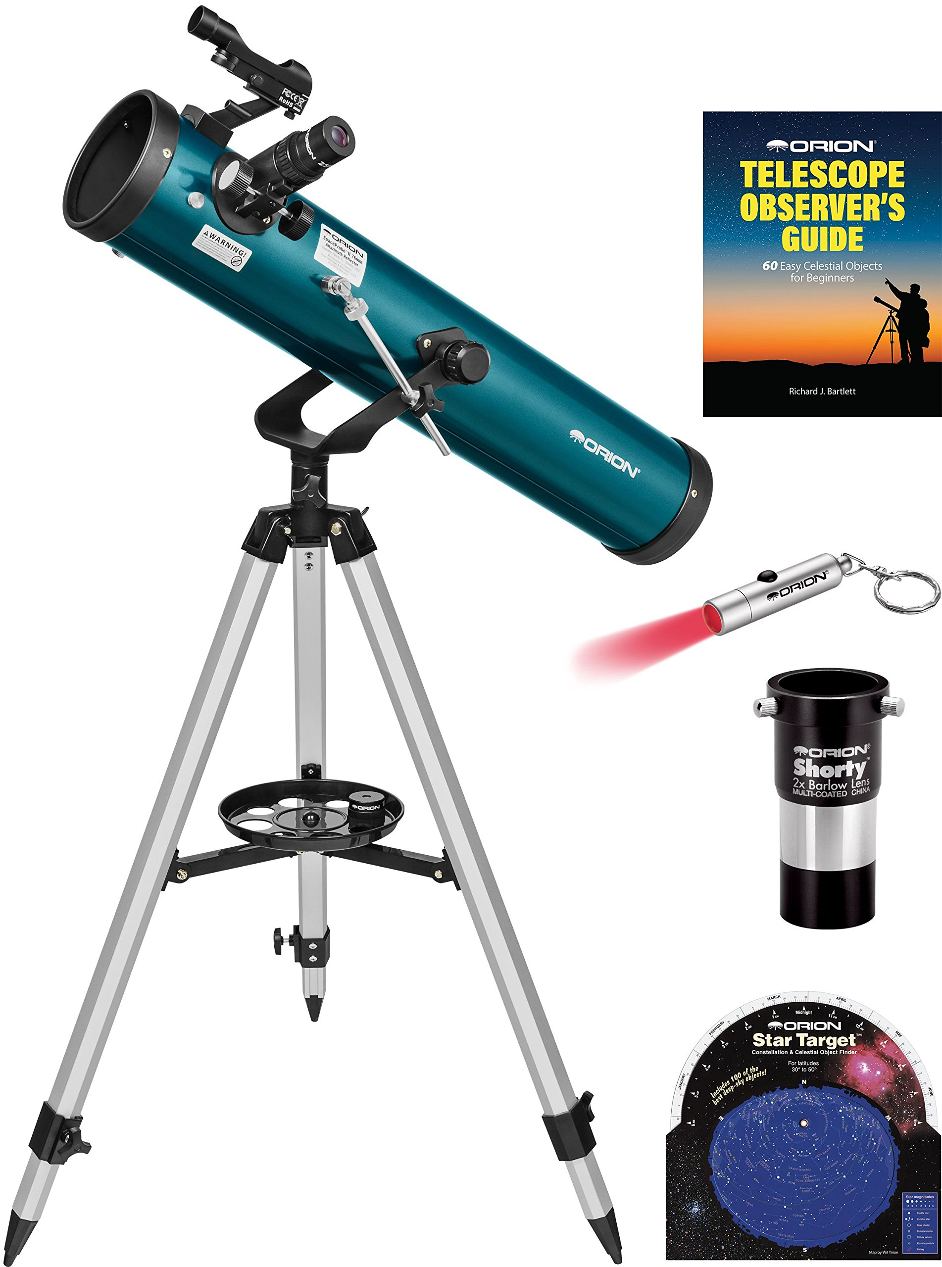 Orion SpaceProbe II 76mm Altazimuth Reflector Telescope Kit by Orion