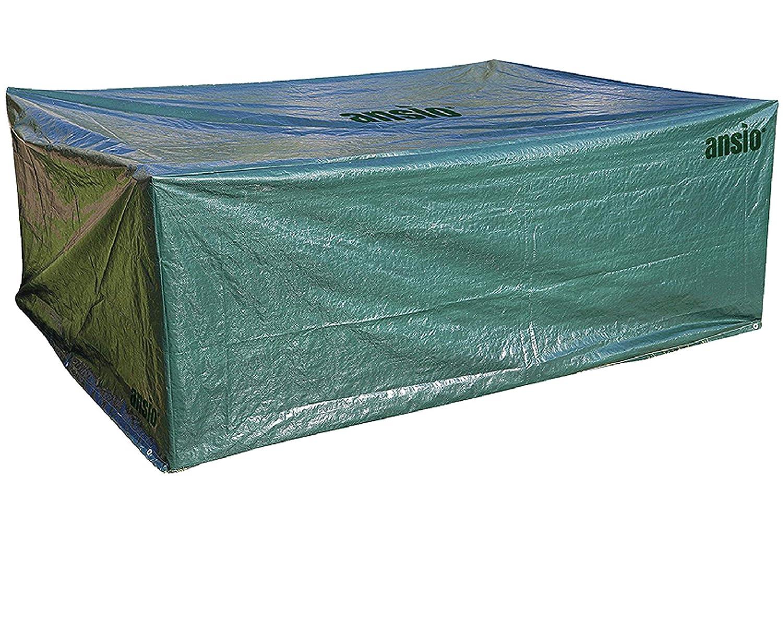 *ANSIO Patio Abdeckung, Schutzhülle für Gartenmöbel, Rechteck, Grün – Größe 2,8m x 2,04m x 1,06m*