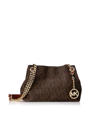 28a6e693cb0 MICHAEL Michael Kors Women's Jet Set Chain Item Medium Messenger Brown