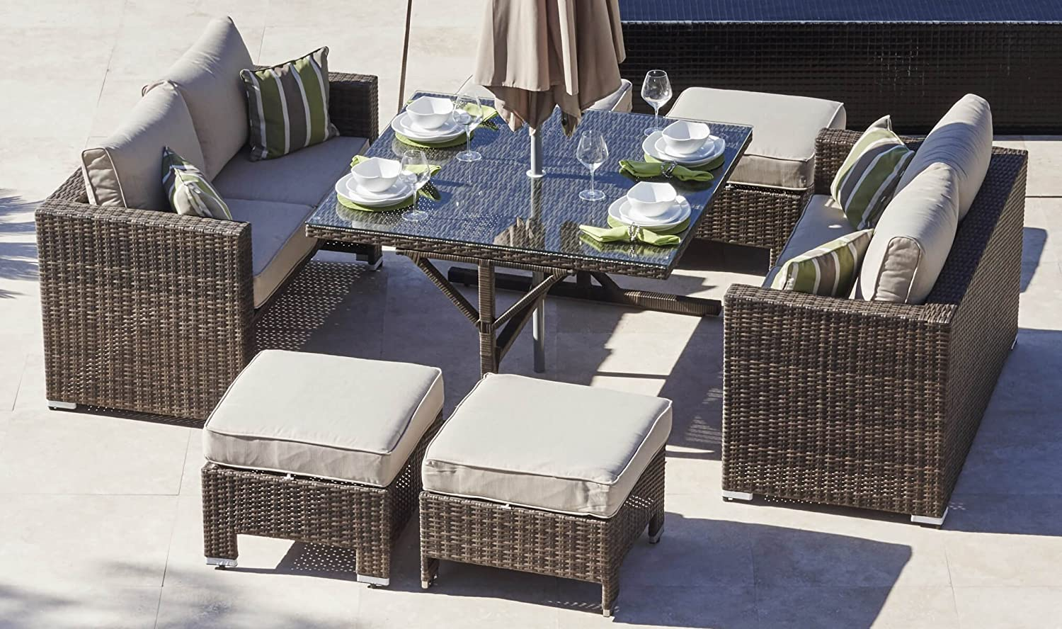 Muebles Fusion Rosario - Rattan Outdoor Sofa Set Weave Modular Dining Set Outdoor Garden [mjhdah]https://images-na.ssl-images-amazon.com/images/I/818%2BCb2bCnL._SL1500_.jpg