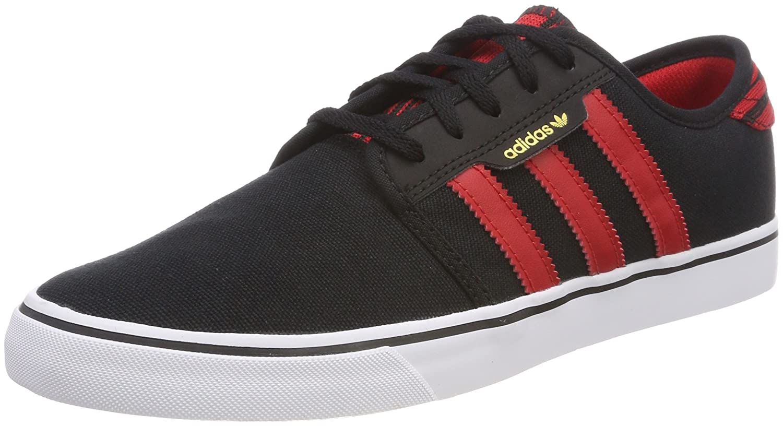 Adidas Seeley, Zapatillas de Skateboarding para Hombre 43 1/3 EU Negro (Negbas / Escarl / Ftwbla 000)