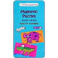 The Purple Cow Viaje Magnético Juego–Coche, Juegos de avión y silencioso Juegos, Mini Rompecabezas