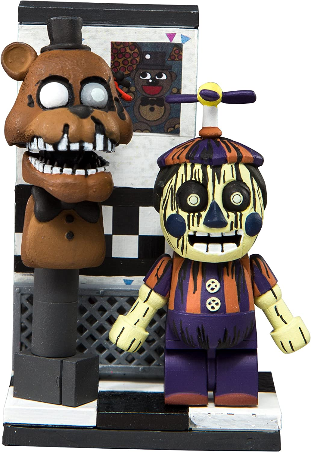 HEO GMBH- Five Nights at FreddyS Office Hallway Micro Construction Set construccion Freddy´s, Multicolor (MC Farlane 12813-0): Amazon.es: Juguetes y juegos