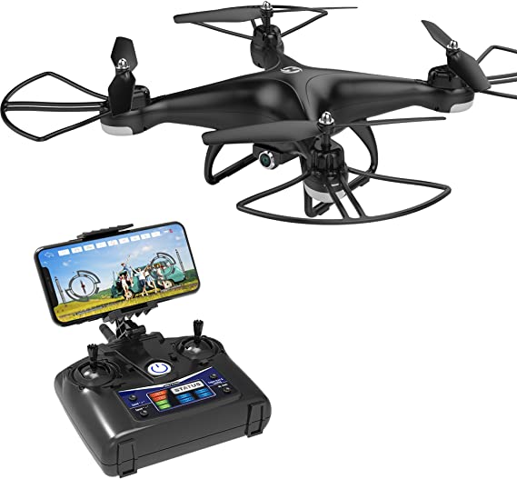 Holy Stone HS110D FPV RC Drone with 1080P HD Camera Live Video 120° Wide-Angle WiFi Quadcopter with Altitude Hold Headless Mode 3D Flips RTF with Modular Battery