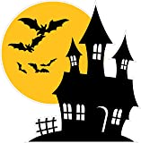 "Halloween Haunted House Wall or Window Decor Decal 12"" x 11"""