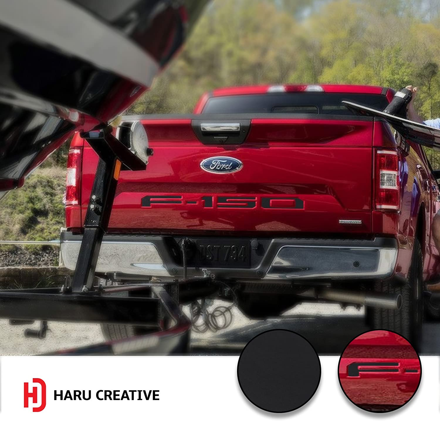 Rear Tailgate Letter Insert Overlay Decal Sticker Compatible with and Fits 2018 Ford F150 F-150 Matte Red Loyo Haru Creative