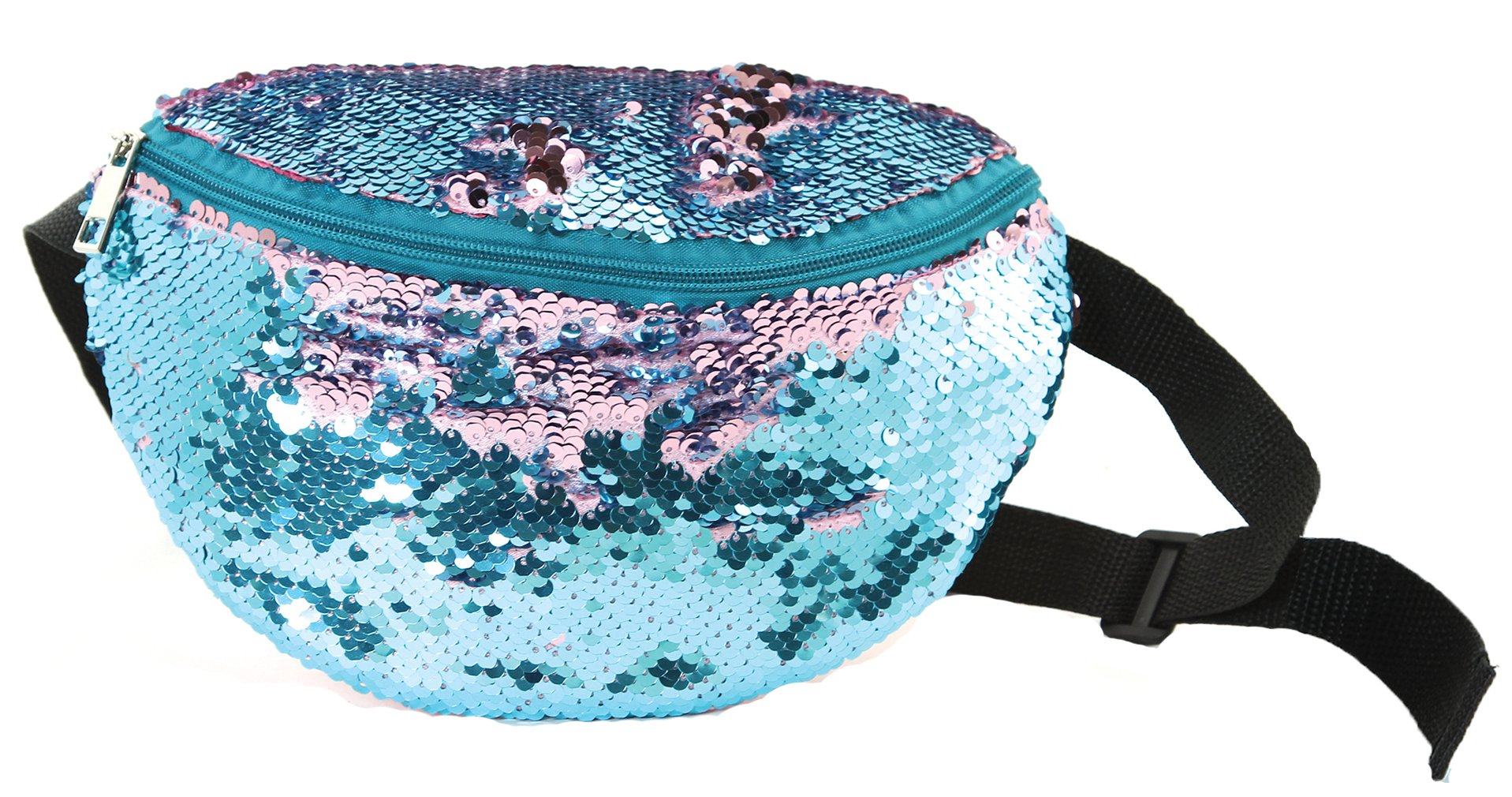 FP-100-MS-2911 Festival Fanny Pack - Sequin (Cotton Candy)