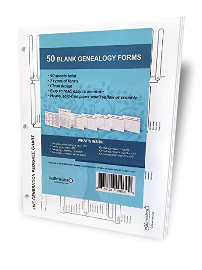 blank genealogy forms bundle 50 by easygenie