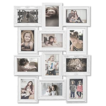 Amazoncom Hello Laura Photo Frame White Curved Classic European