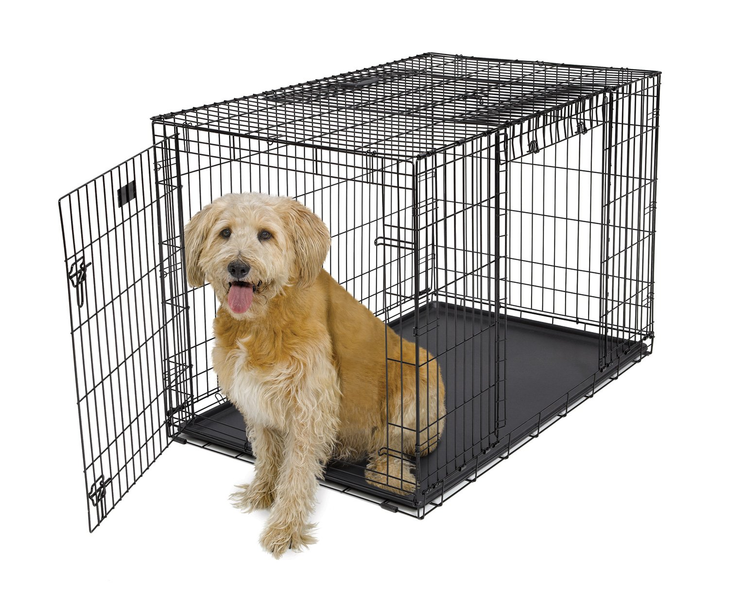 Midwest Homes for Pets Ovation Trainer Dog Crate, 48'' Long, Black