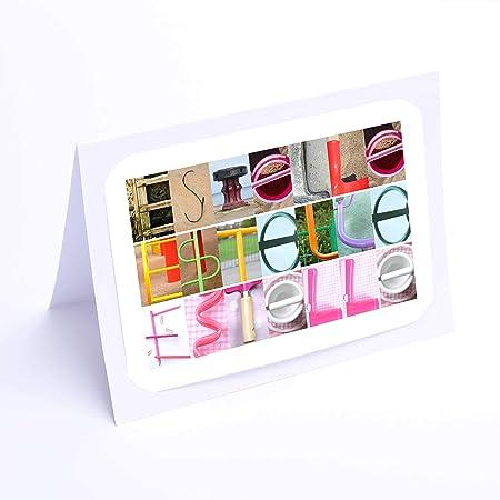 Fille De Cartes Personnalise 7 X 5 Cartes D Anniversaire Motif Estelle Photo Ou Carte De Vœux Livraison Gratuite Amazon Fr Cuisine Maison