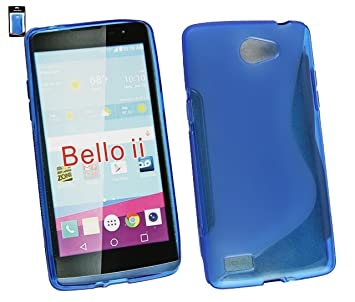 Emartbuy® LG L Bello II/LG L Bello 2 Ultrafina a Presión TPU Gel Funda Carcasa Case Cover Azul