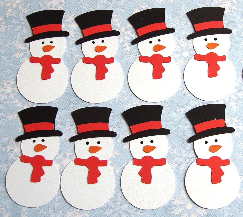 Christmas Toppers For Card Making.8 Diecut Christmas Snowmen Cute Little Snowman For Christmas