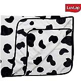Luvlap Newborn Baby Super Soft Baby Blanket, Black and White Cow (110cm x 130cm)