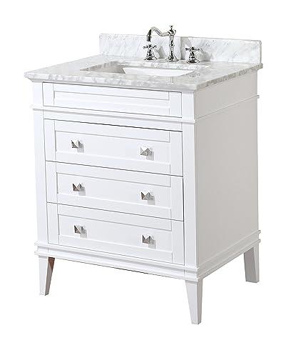 kitchen bath collection kbc l30wtcarr eleanor bathroom vanity with