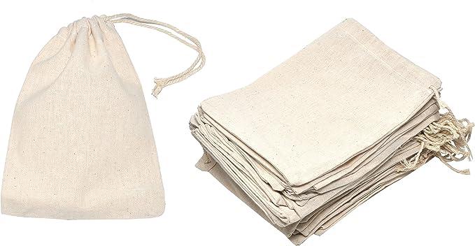 Mandala Crafts - Bolsas de muselina de algodón con cordón para jabón, especias, té, regalo, 5 x 7 Inch 50 Count, Ivory: Amazon.es: Salud y cuidado personal