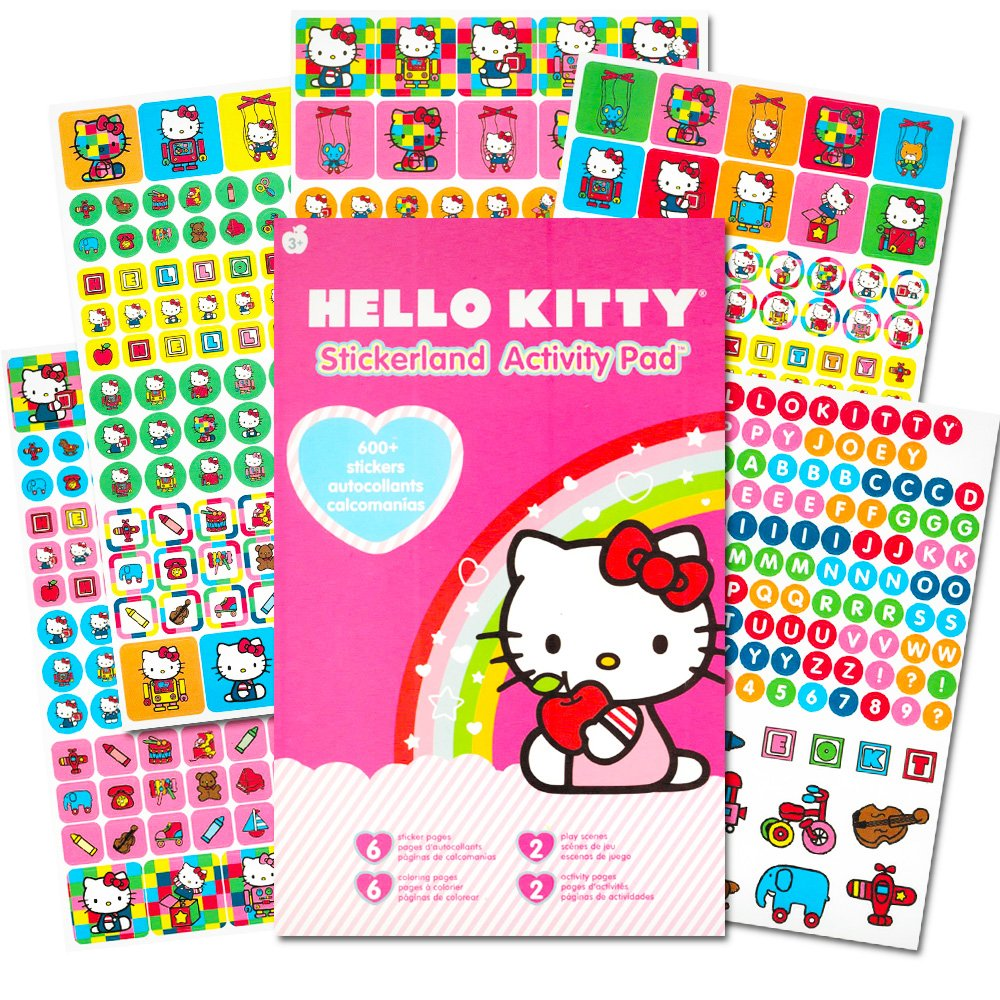 Hello Kitty Stickers Party Favor Pack 624 Stickers