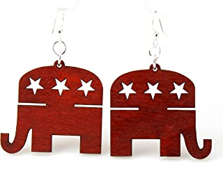 product image for Republican Elephant Earrings
