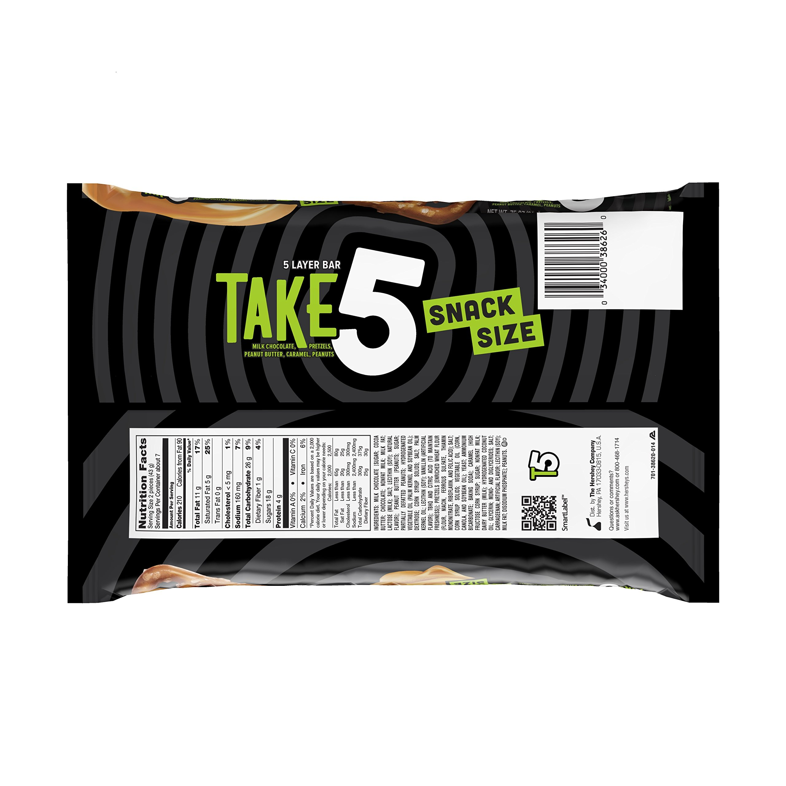 TAKE5 Snack Size Bars (11.25-Ounce Bag, Pack of 6) by Take 5 (Image #4)