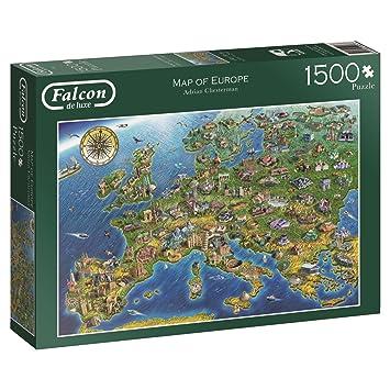 Jumbo 11057 1500 Teile Map of Europe Falcon Frühkindliche ...