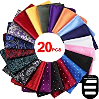 e579799a4b99 Pocket Squares for Men 20 Pack Mens Pocket Squares Sets Assorted Colors  with Gift Box