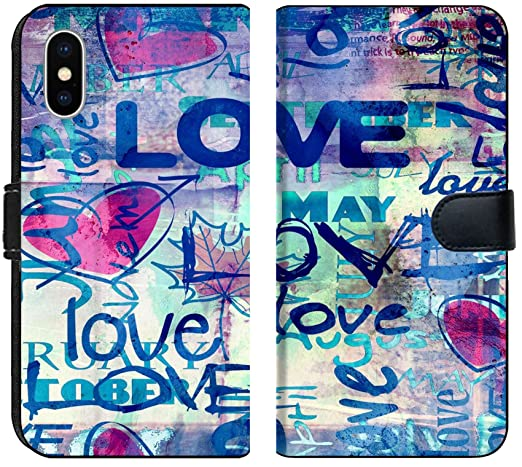 Amazon Com Apple Iphone Xs Max Flip Fabric Wallet Case