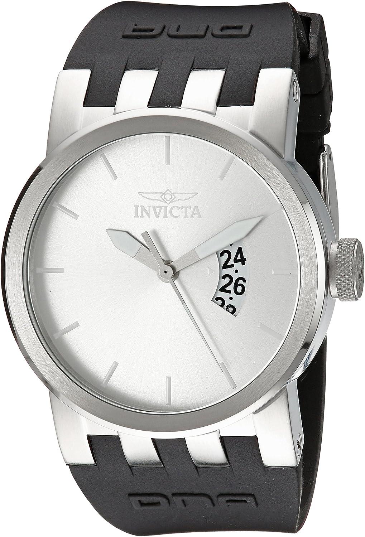 Invicta Men s DNA Urban Silver Sunray Dial Black Silicone Watch