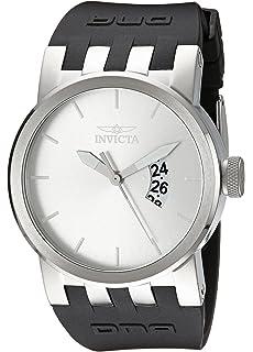 Invicta Mens 10407 DNA Urban Silver Sunray Dial Black Silicone Watch
