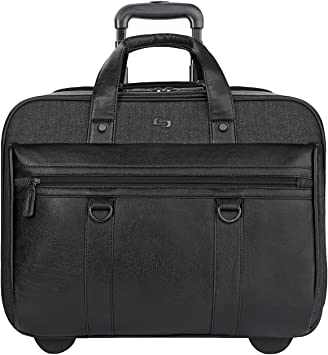 Solo New York MacDougal Rolling Laptop Bag, Black