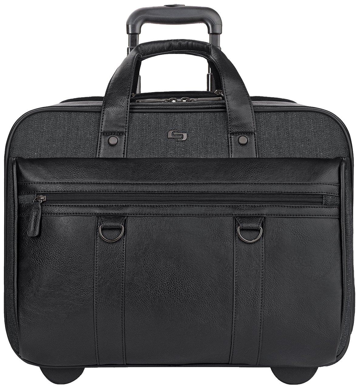 Solo Macdougal 17.3 Inch Rolling Laptop Case, Black