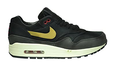 finest selection 37641 d711c Nike Air Max 1 Premium Men s Shoes Black Metallic Gold-Hyper Red-Slate