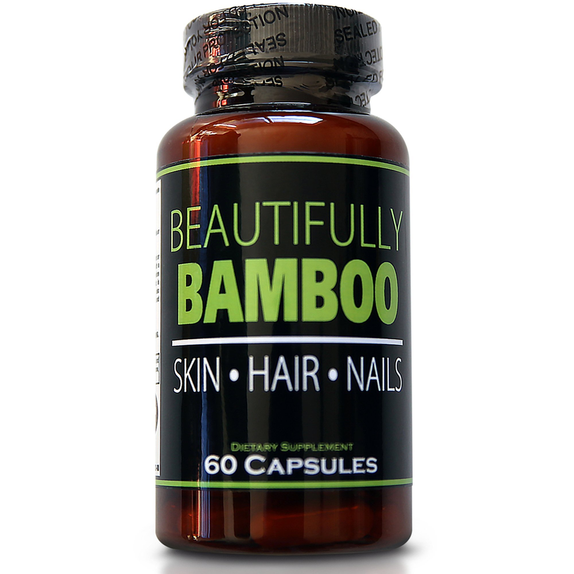 Beautifully Bamboo Ultra Vitamin for Skin, Hair, and Nail Growth. Enriched with Biotin, Bamboo Silica, Amino Acids and more (60 capsules) by Beautifully Bamboo (Image #1)